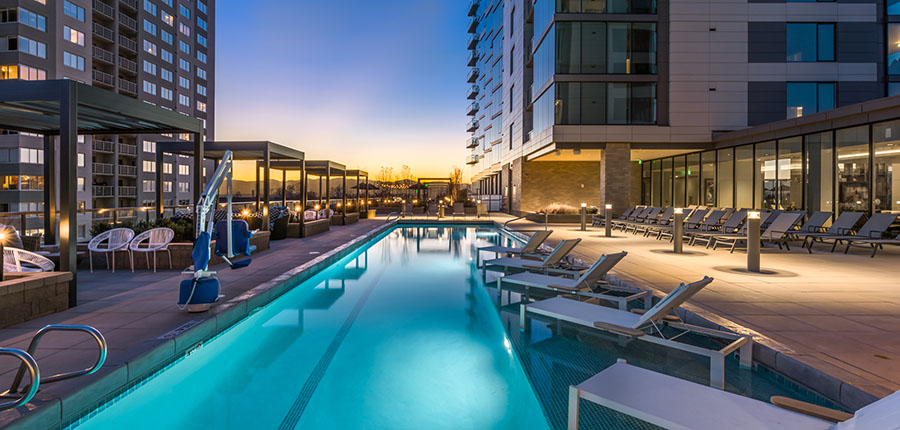 Pool at Country Club Towers