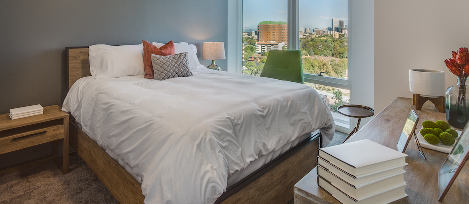 Bedroom at Country Club Towers