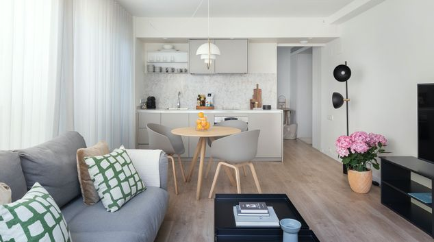 Living area at Casa Plensa, Eixample, Barcelona