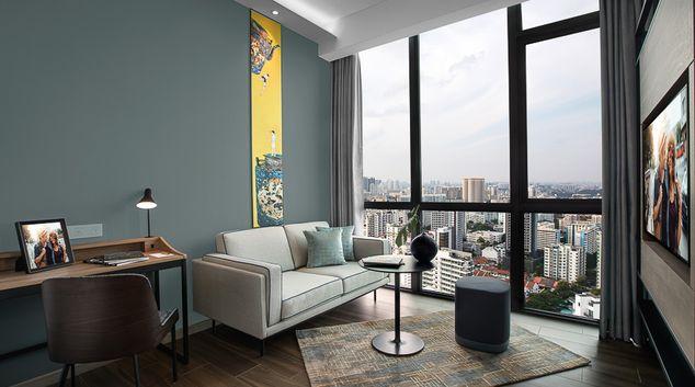 Living area at Citadines Balestier Apartments, Singapore