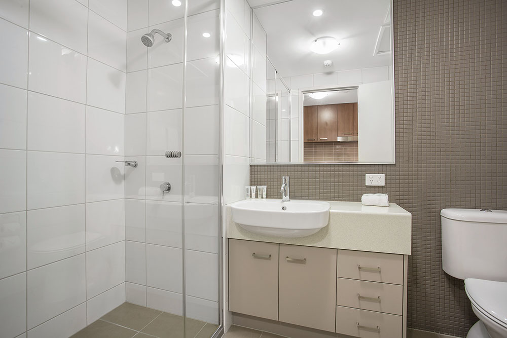 Bathroom at Quest Parap Apartments