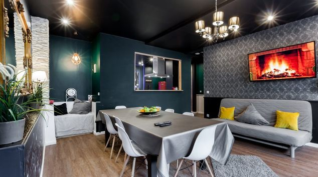 Living area at Haupstrasse Apartments