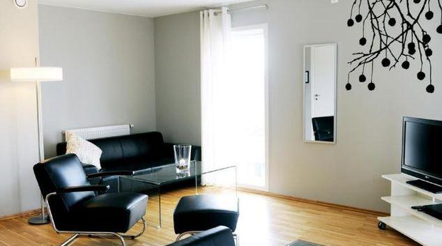Living area at Midtbergveien 1 Apartment, Forus, Sandnes