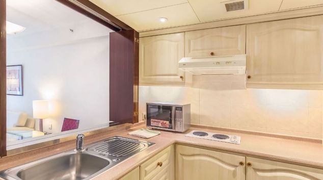 Compact kitchen in Regal Airport Hotel