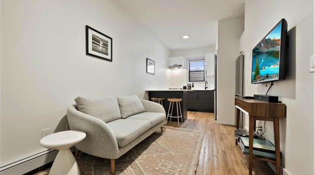 Living room at Brooklyn Apartment