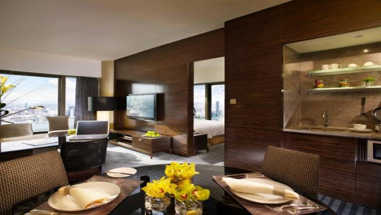 Stunning living area in Fortress Hill Apartments
