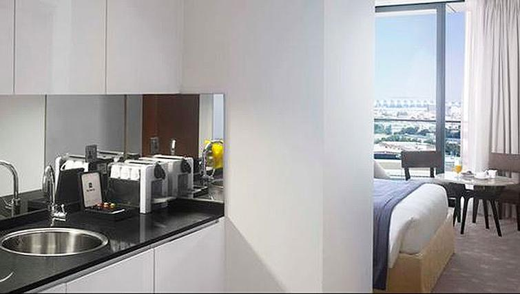 Kitchen at InterContinental Residence Suites Dubai F.C.