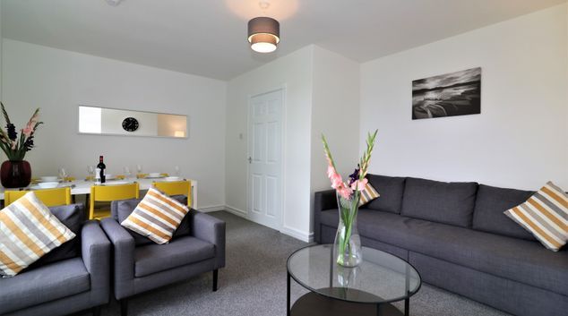 Living area at Belhaven House