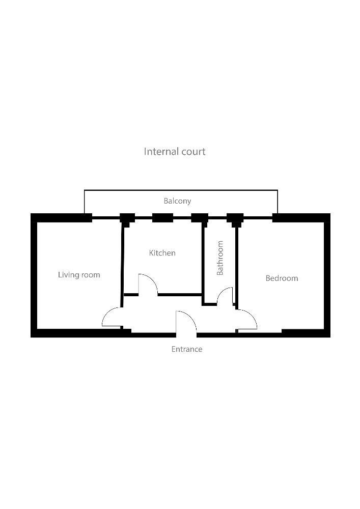 Floor plan at Alberti Apartment
