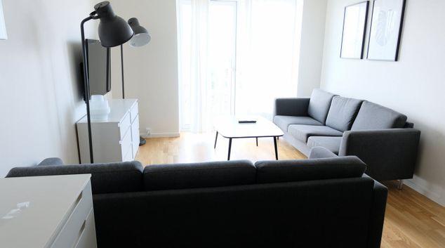Living area at Ørestads Boulevard Apartments, Amager Vest, Copenhagen