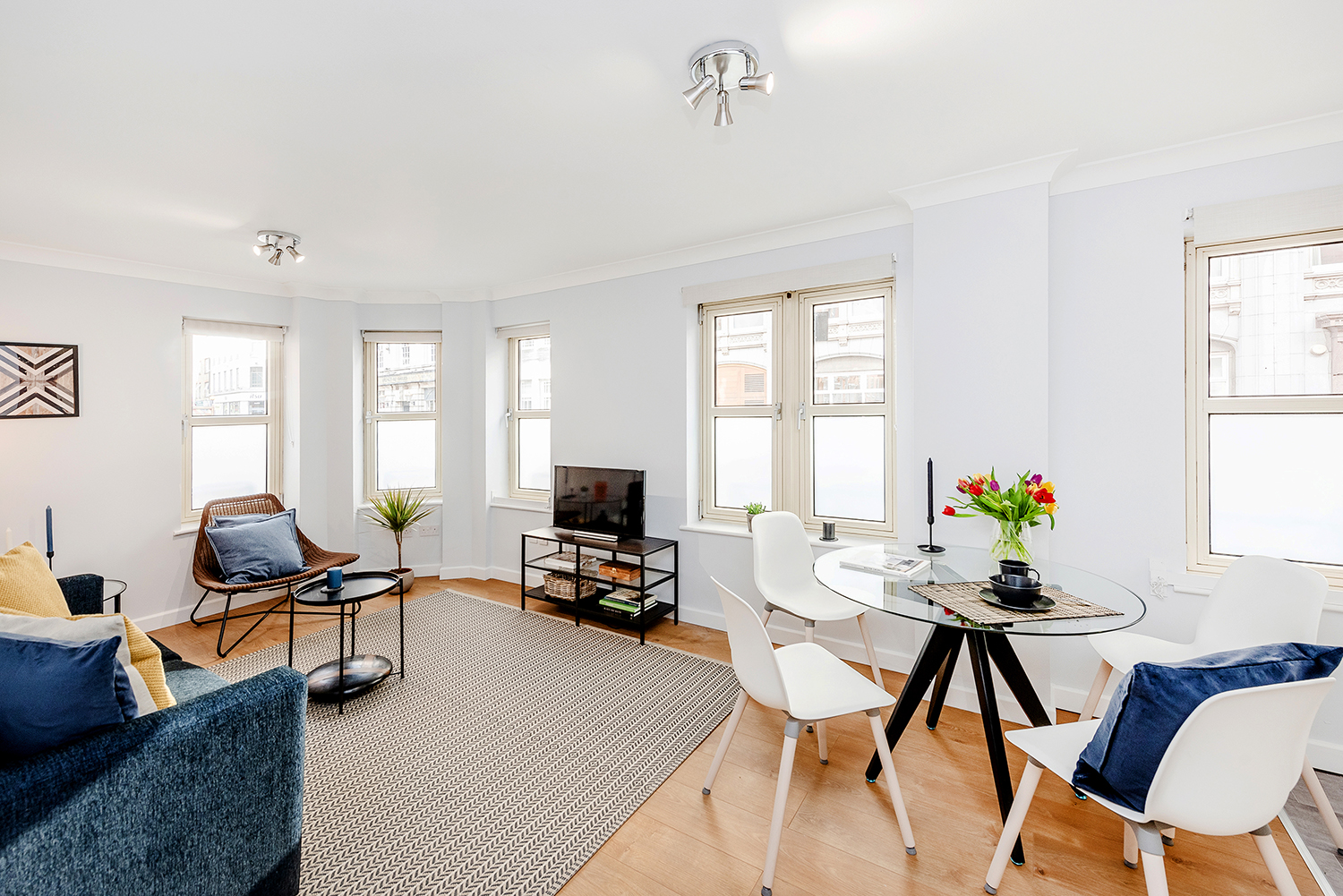 Living room at BE: Opera House Apartment
