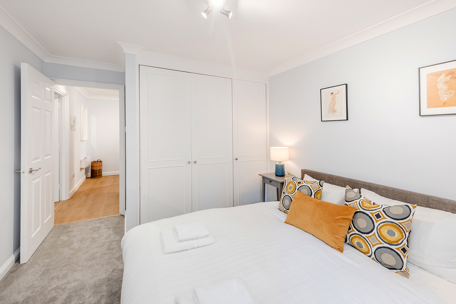 Bed at BE: Opera House Apartment
