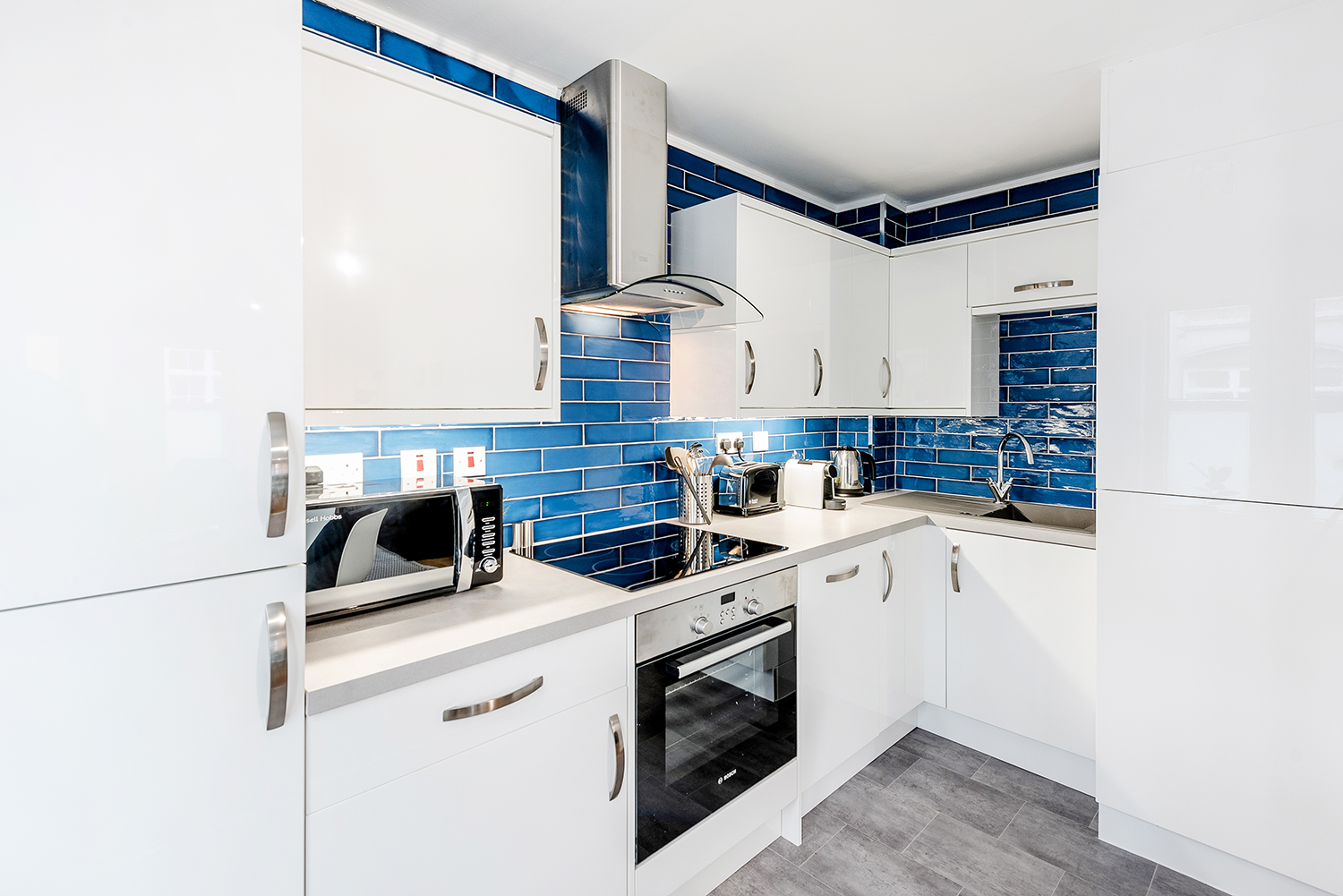 Kitchen at BE: Opera House Apartment