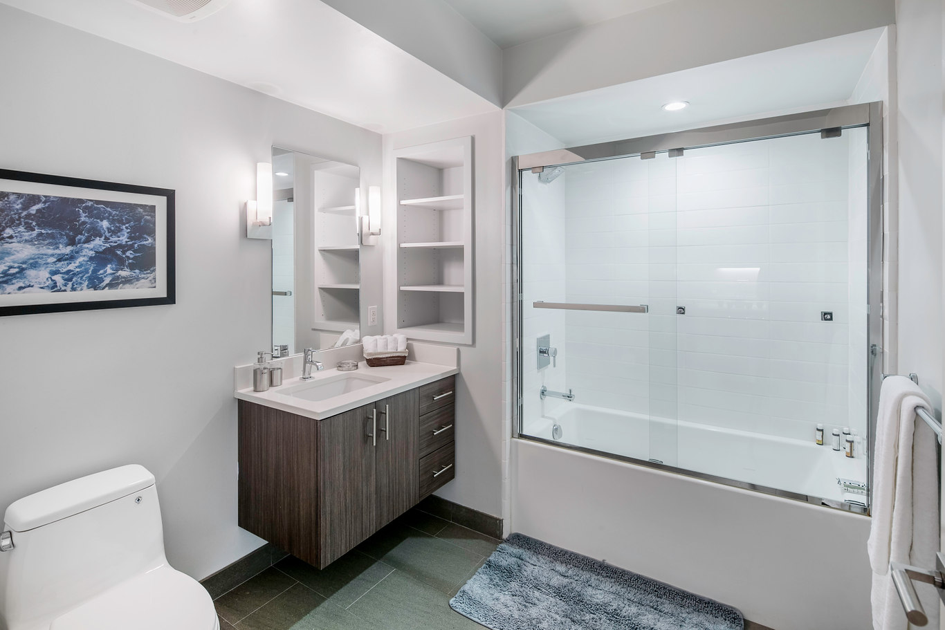 Bathroom at Ritch Street Apartments