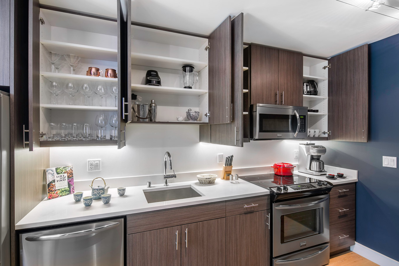 Kitchen at Ritch Street Apartments