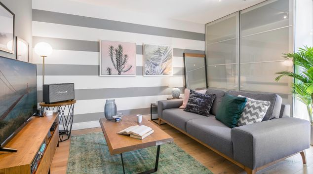 Living area at Ritch Street Apartments