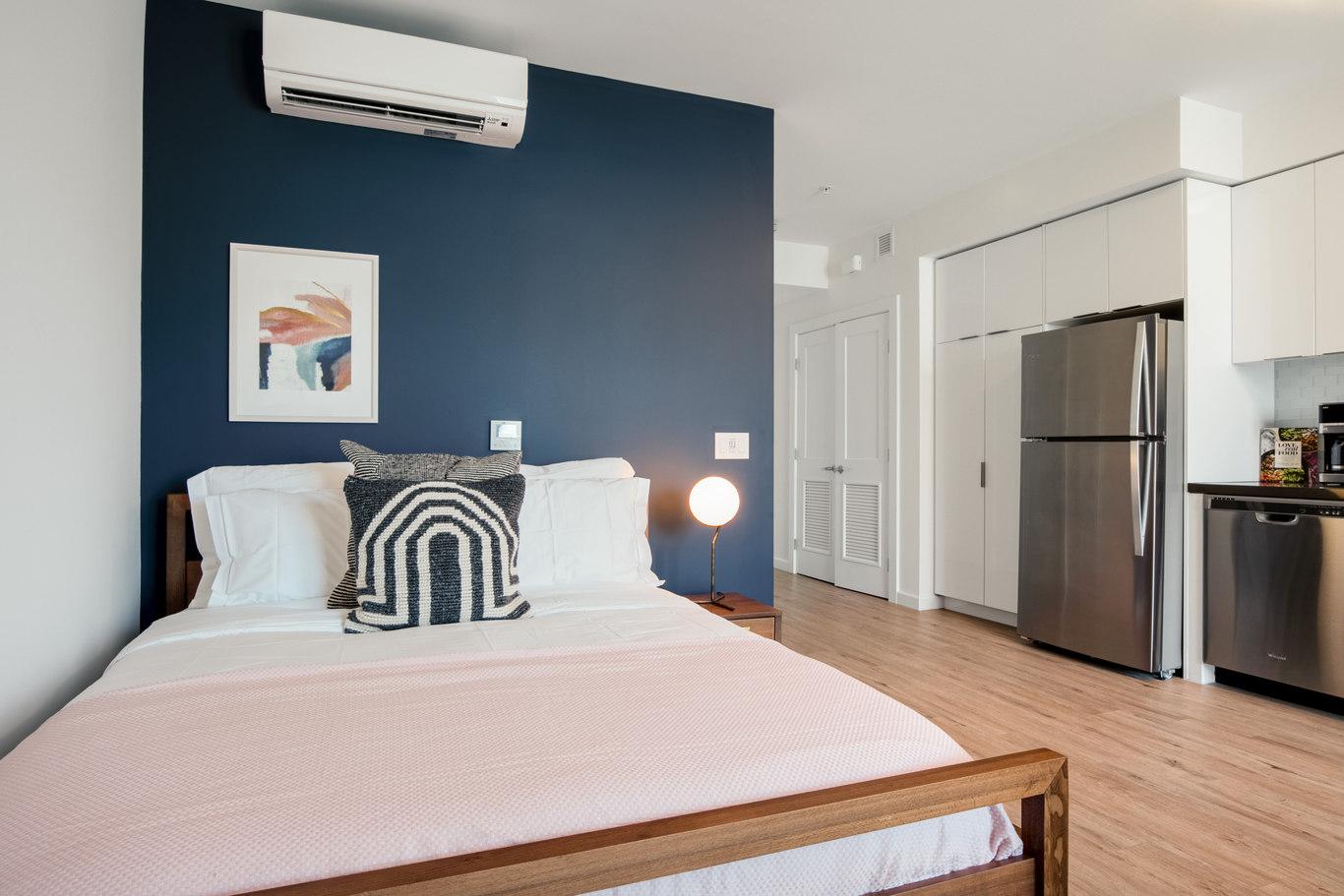 Bedroom at Brannan Street Apartments