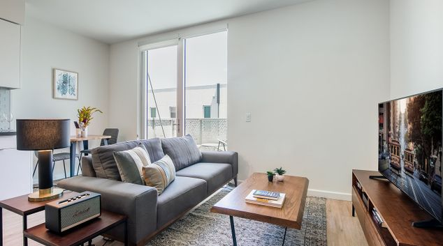 Living area at Brannan Street Apartments