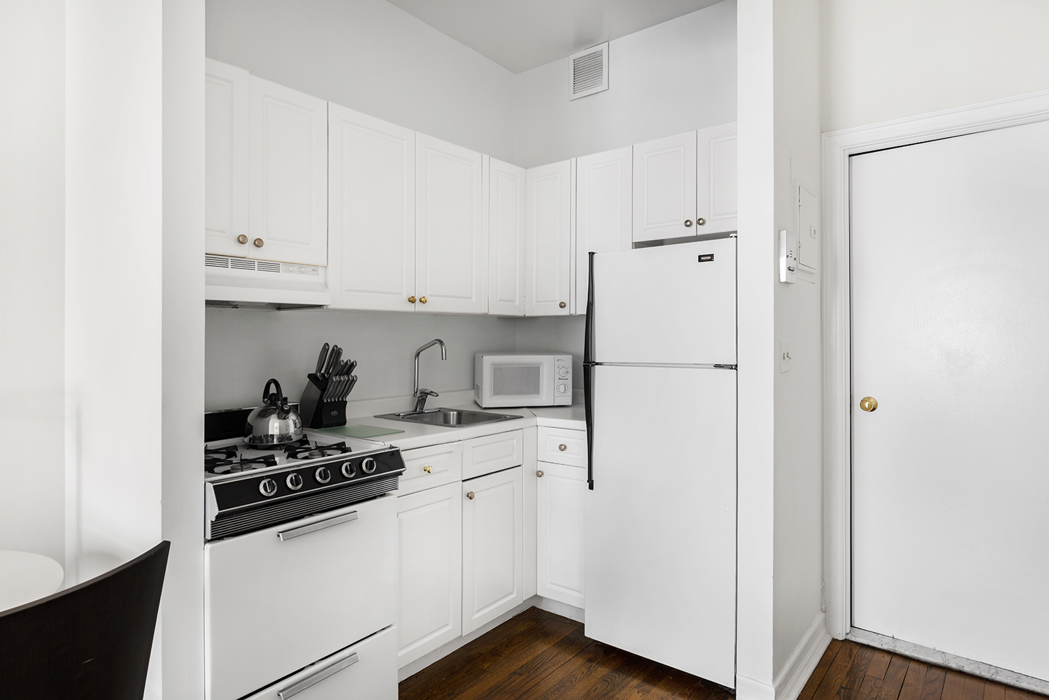 Kitchen at East 74th Street Apartments