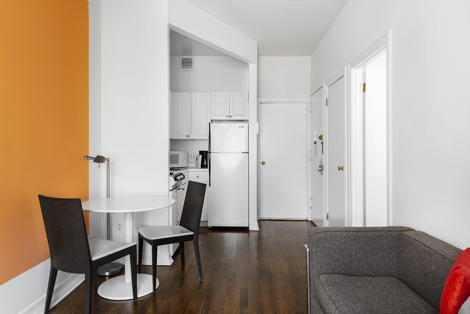 Dining area at East 74th Street Apartments