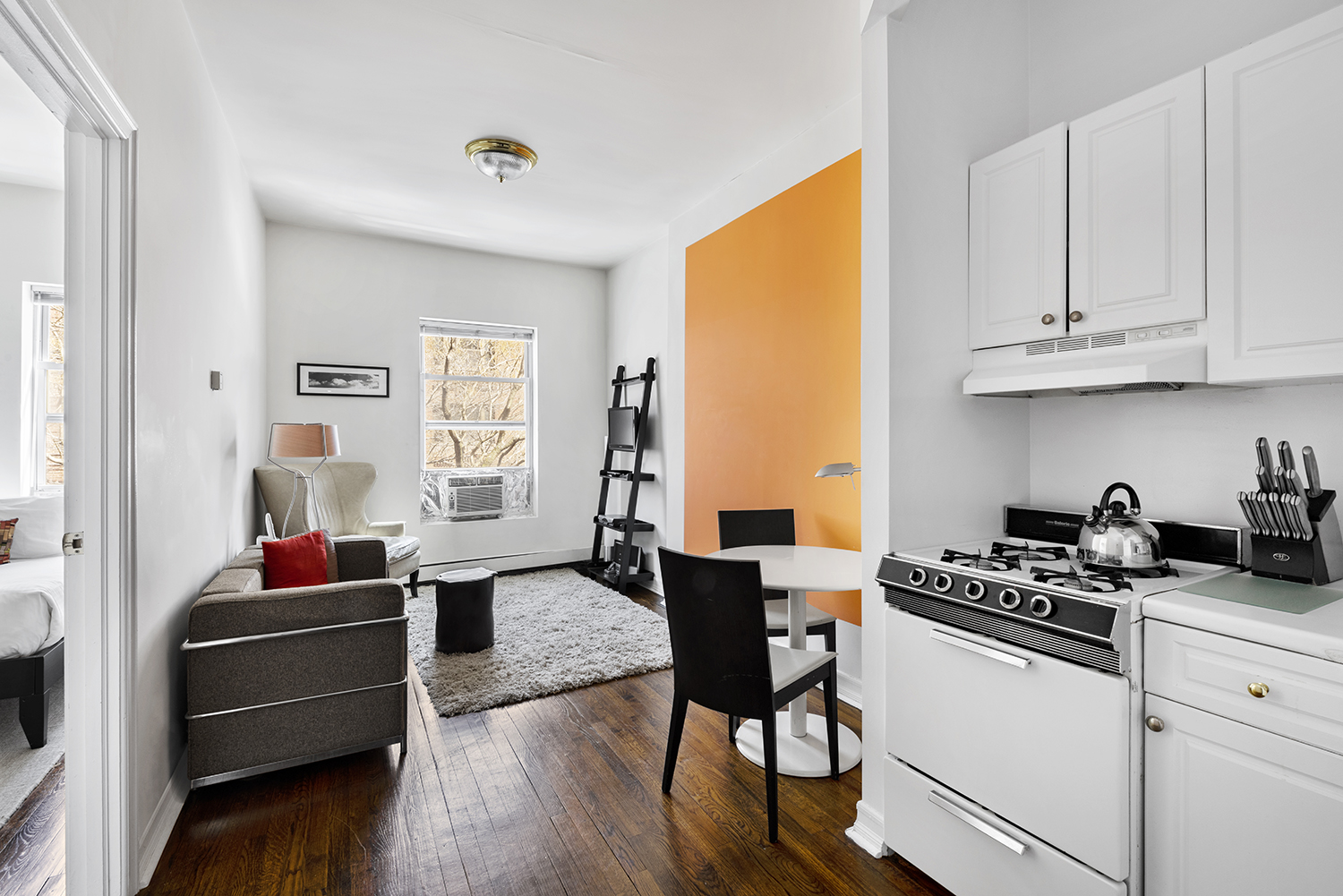 Open plan kitchen at East 74th Street Apartments