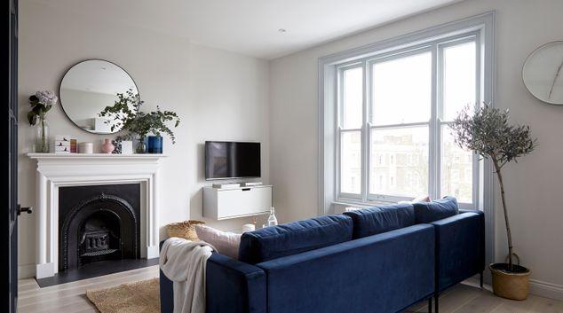 Living room at St James Gardens