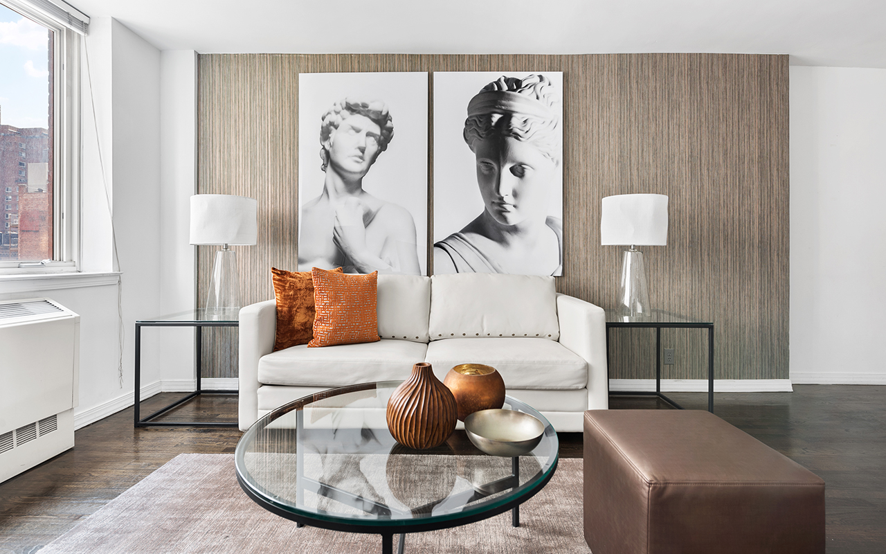 Sofa at 316 East 63rd Street Apartments, Manhattan, New York