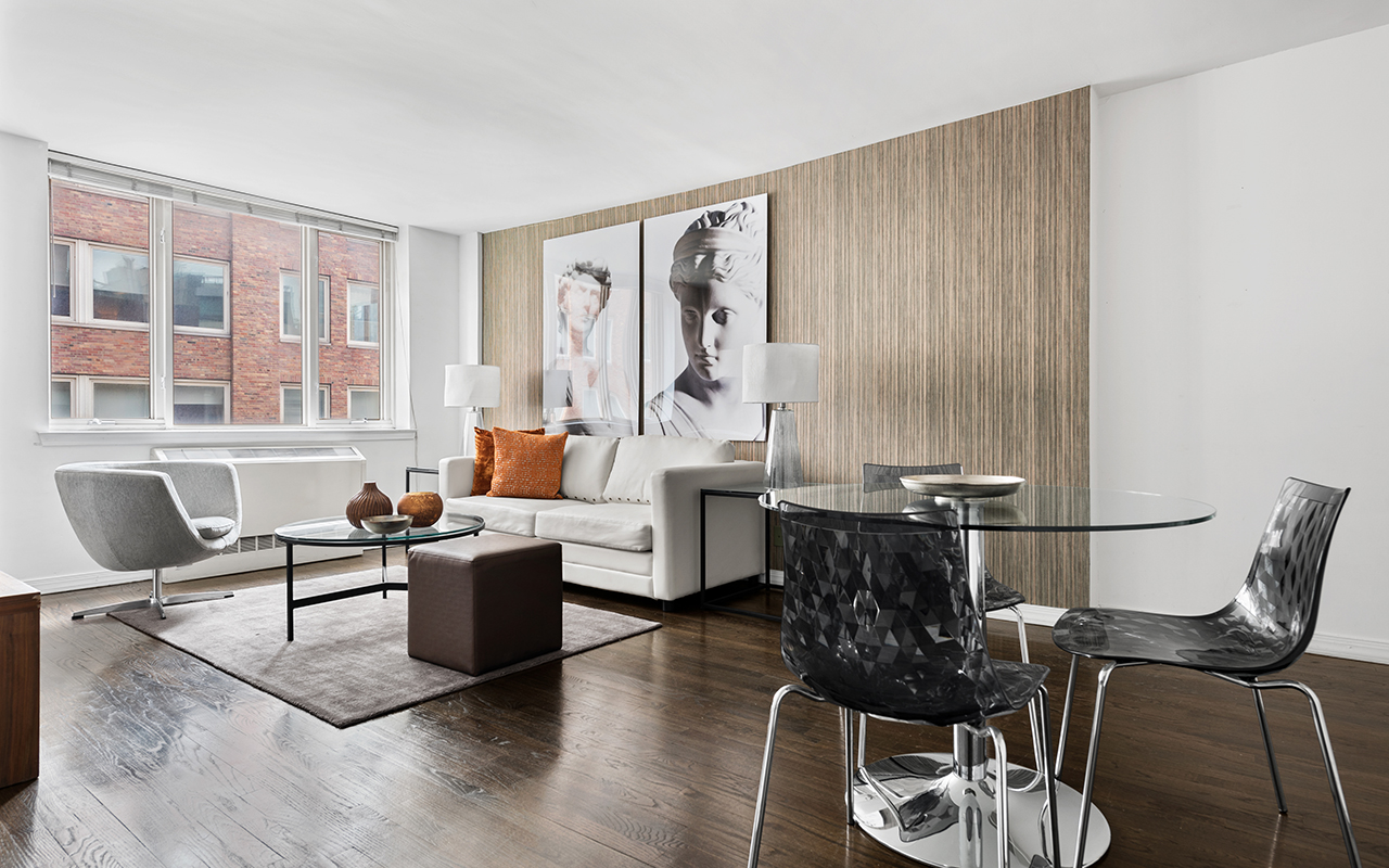 Dining table at 316 East 63rd Street Apartments, Manhattan, New York