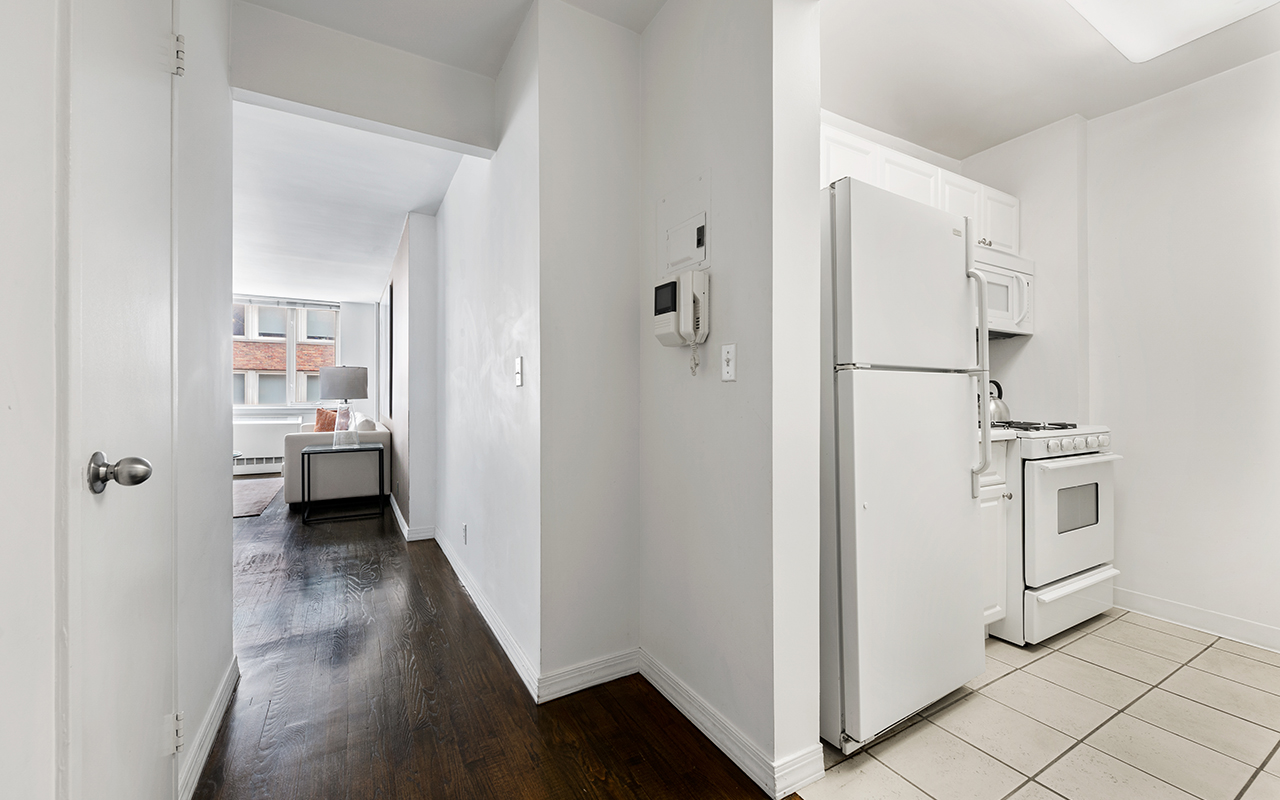 Bright hallway at 316 East 63rd Street Apartments, Manhattan, New York