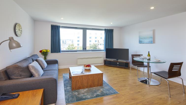 Living room at the Aparthotel Farnborough