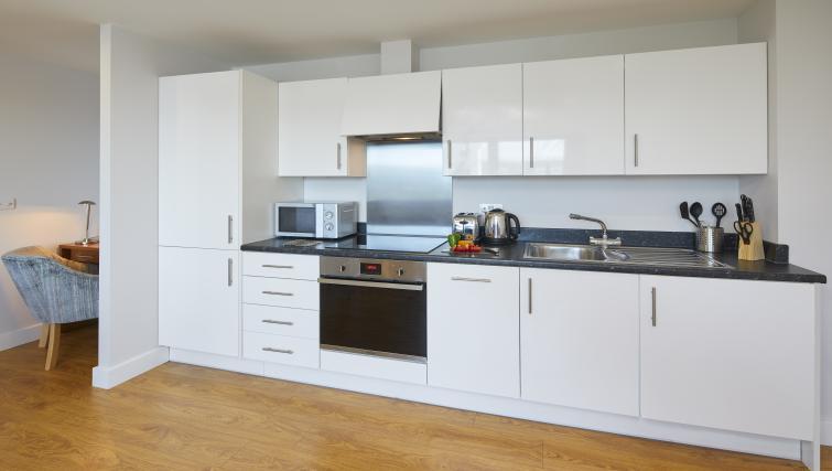 Kitchen at the Aparthotel Farnborough