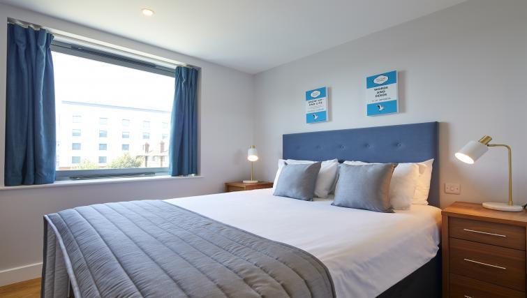 Bedroom at the Aparthotel Farnborough