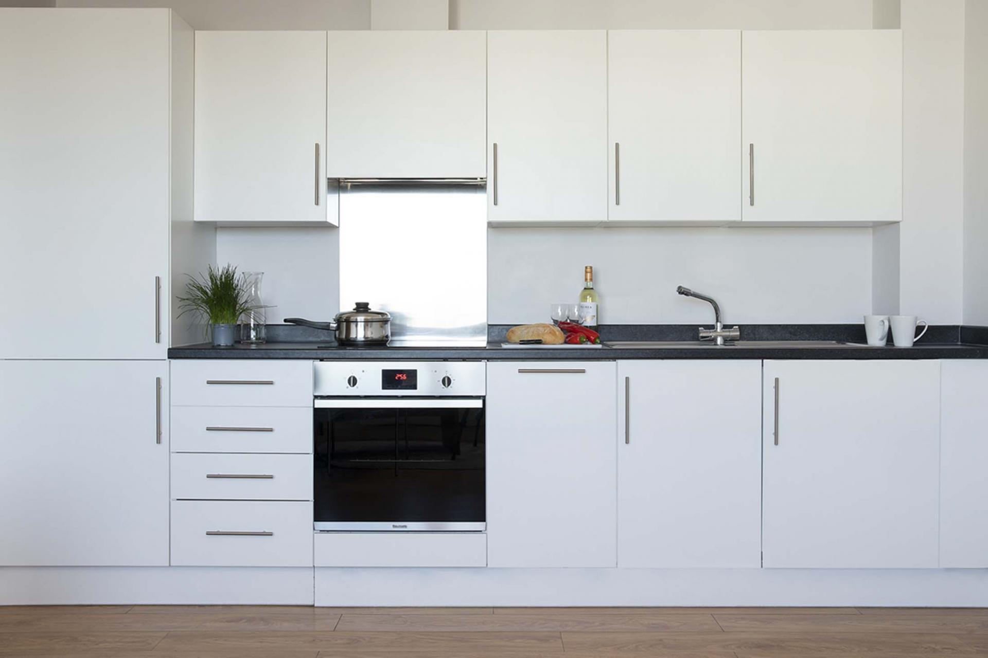 Kitchen at Aparthotel Farnborough