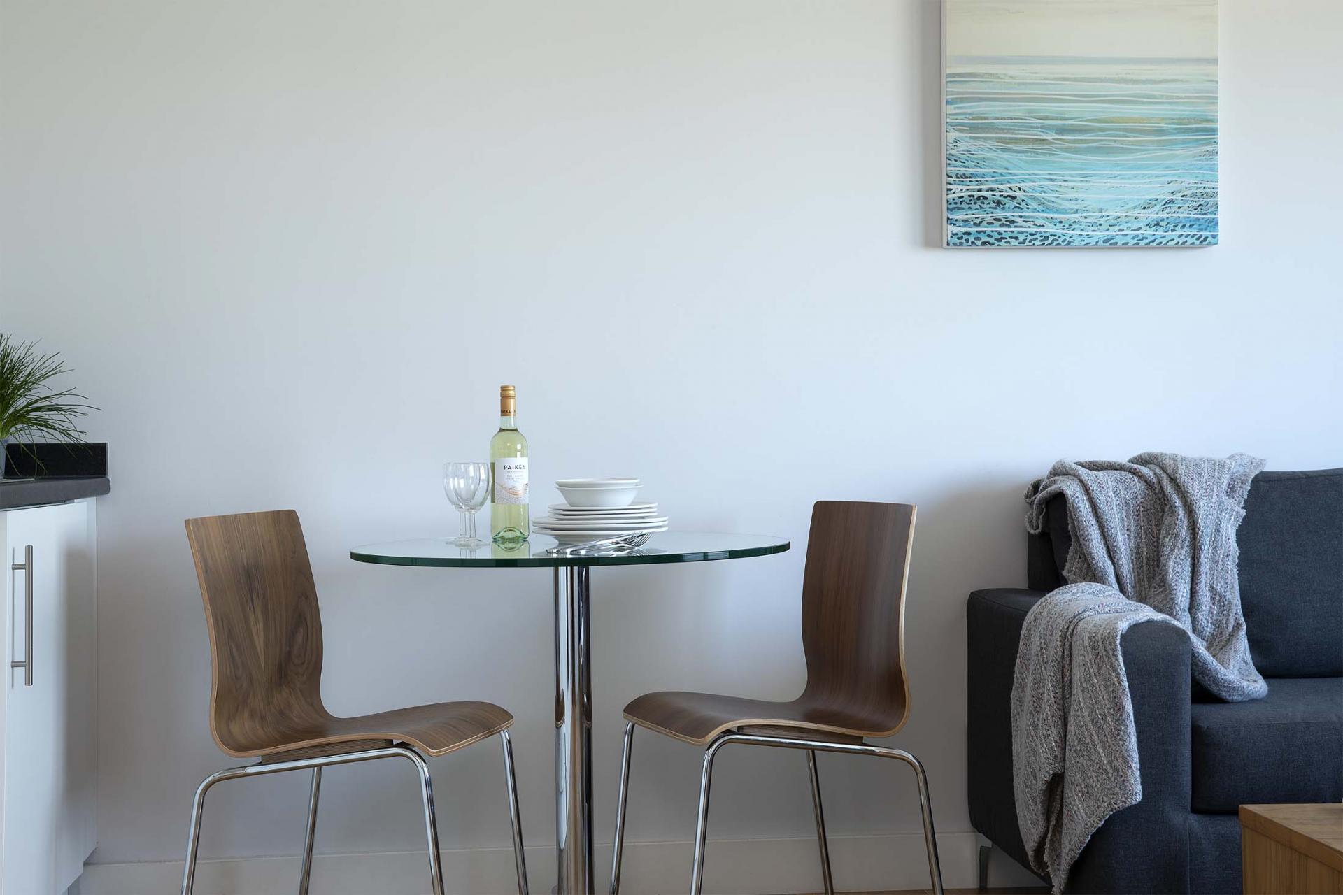 Dining table at Aparthotel Farnborough