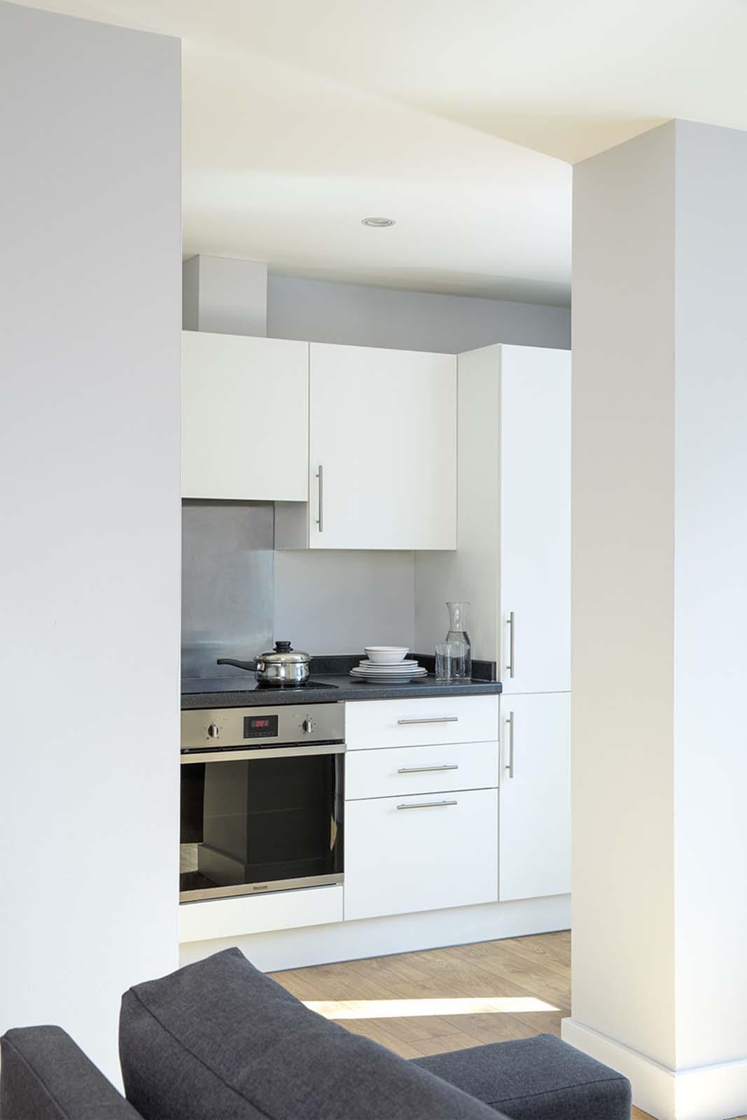 Kitchen facilities at Aparthotel Farnborough