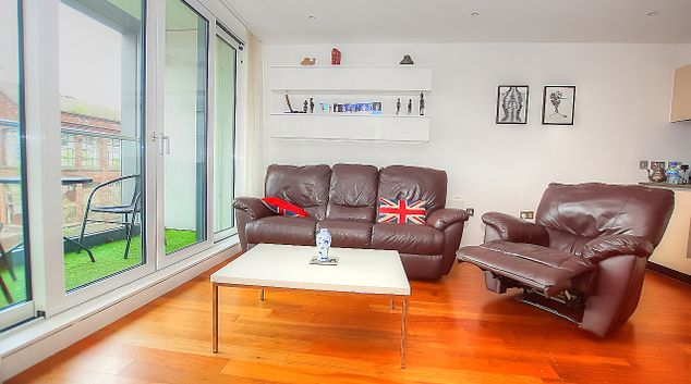 Lounge at Munday Street Apartment, New Islington, Manchester