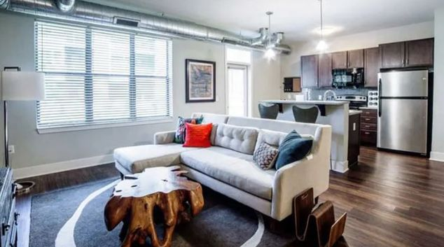 Lounge at The Residences at CityWay, Centre, Indianapolis