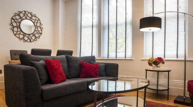 Sofa at Garrick Mansions Apartments