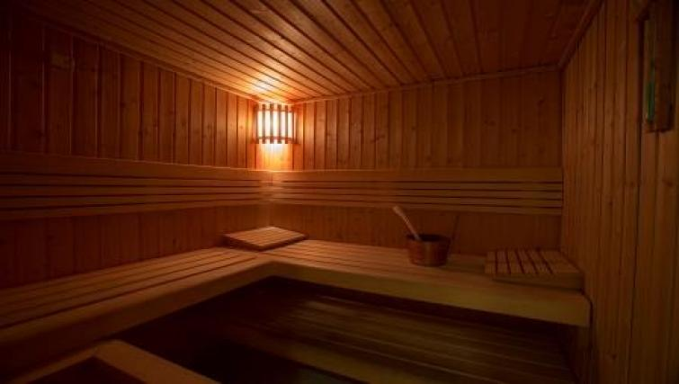 Sauna at Vision Downtown Apartments