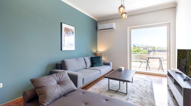Living area at Acharnon Apartment