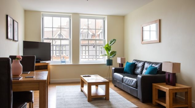 Living Room at Exchange Buildings Apartments, Centre, Bournemouth