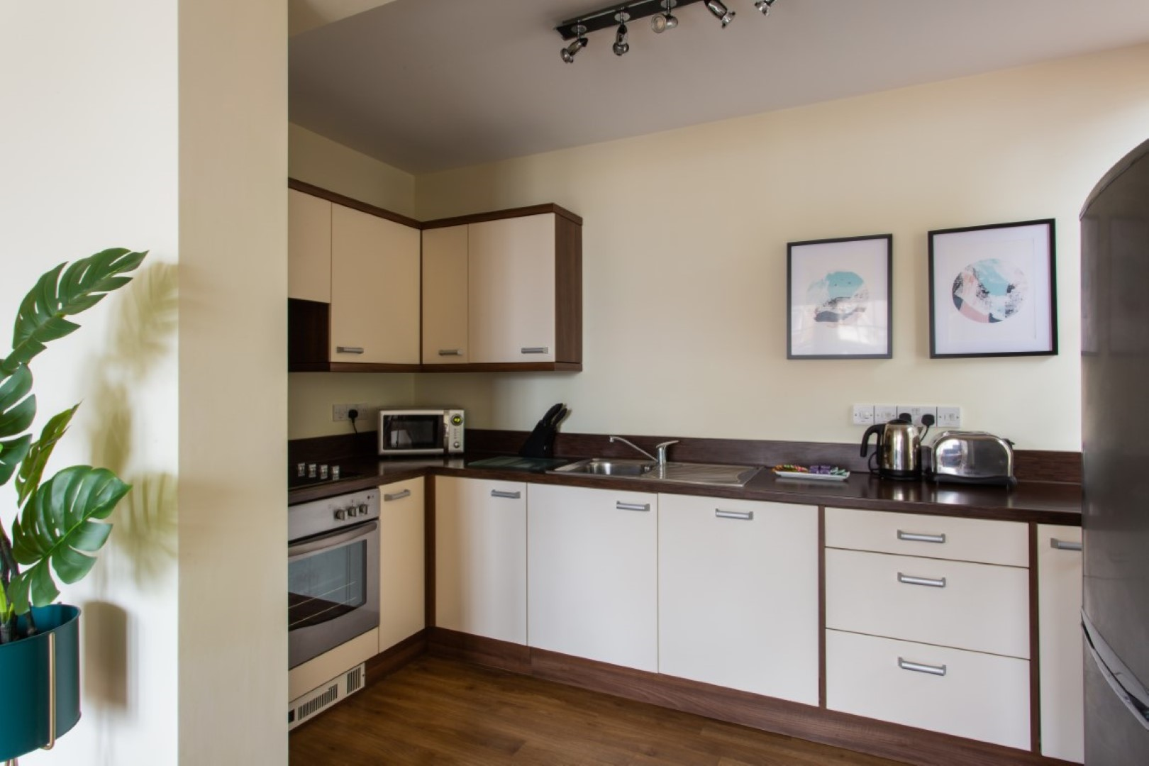 Modern kitchen at Exchange Buildings Apartments, Centre, Bournemouth