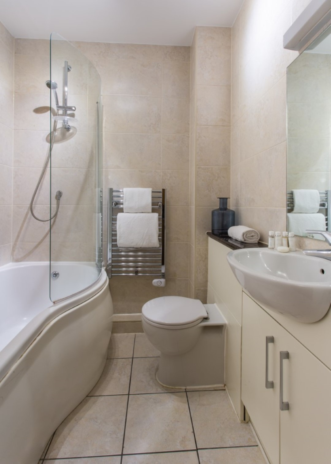 Bathroom at Exchange Buildings Apartments, Centre, Bournemouth