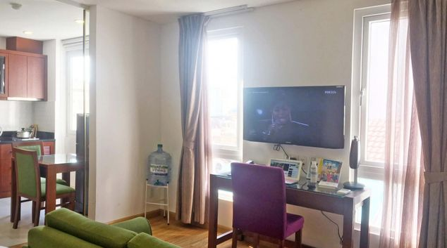Living room at Three Oaks 2 Serviced Apartment, Da Kao, Ho Chi Minh