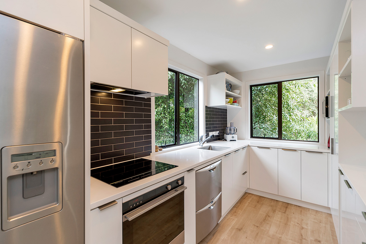 Kitchen at Wood Street Townhouse, St Marys Bay, Auckland