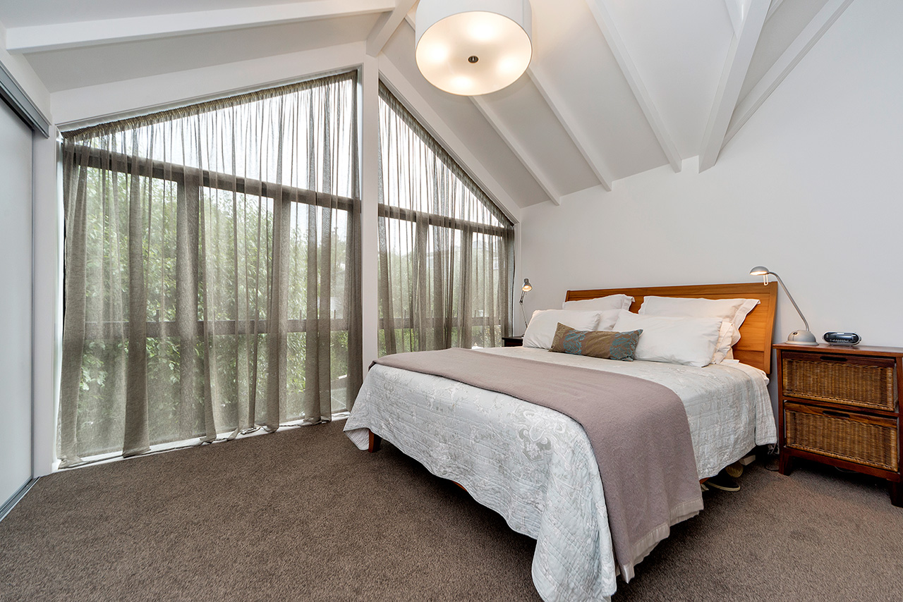 Bed at Wood Street Townhouse, St Marys Bay, Auckland