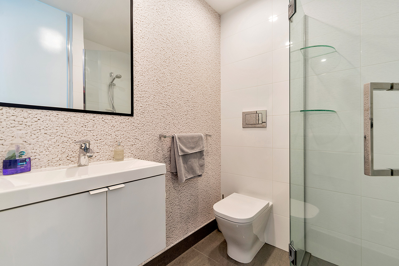Shower at Wood Street Townhouse, St Marys Bay, Auckland