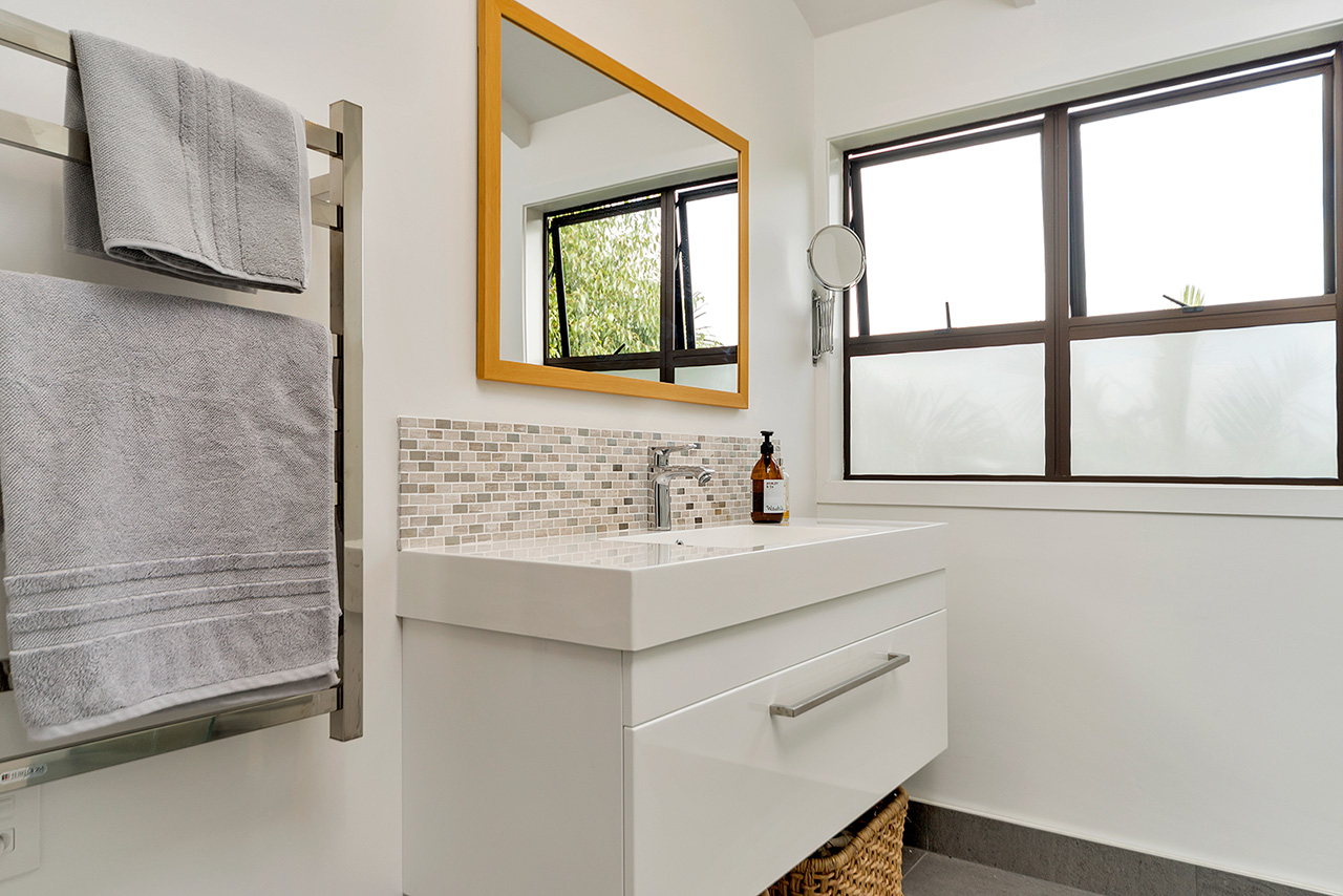 Sink space at Wood Street Townhouse, St Marys Bay, Auckland