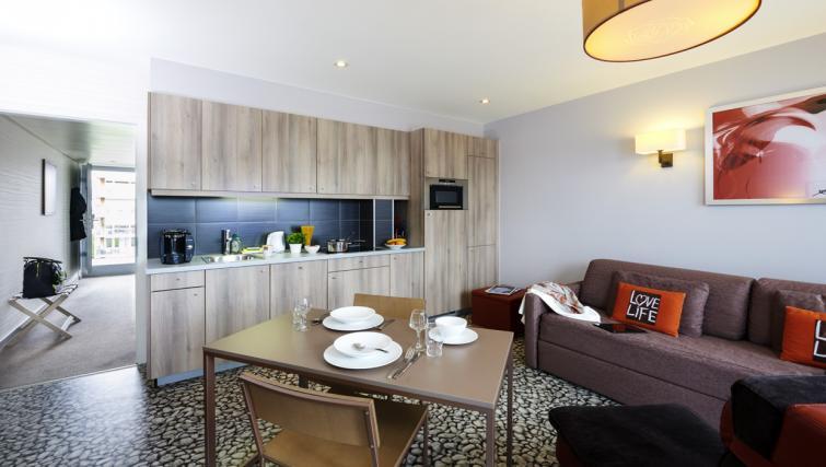 Kitchen area at Adagio Basel City