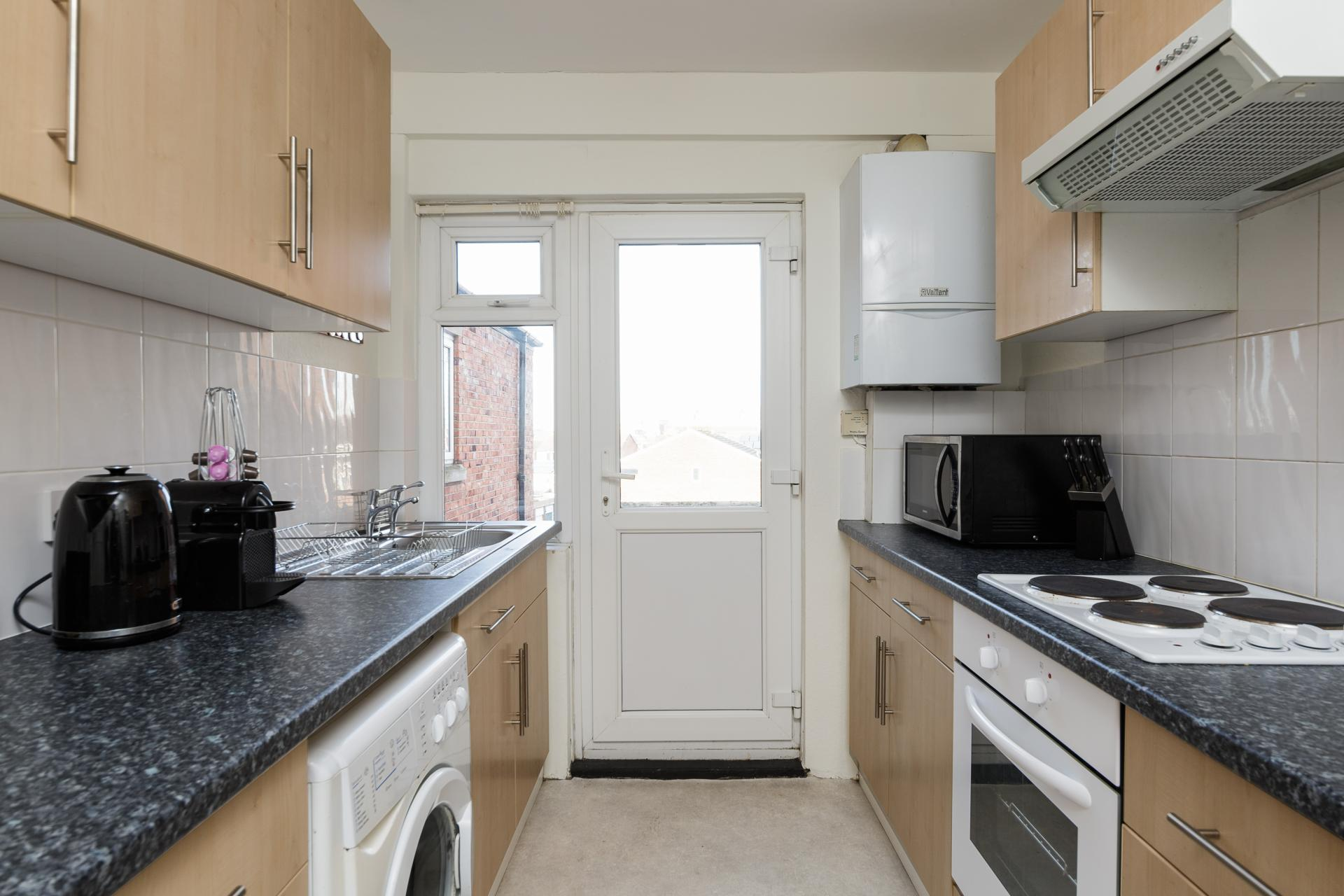 Kitchen at Braganza House Apartments, Old Portsmouth, Portsmouth